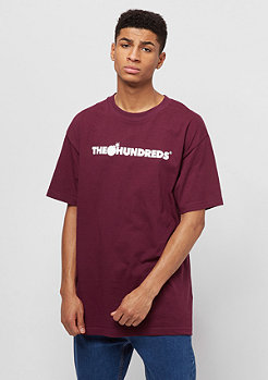 The Hundreds Forever Bar Logo burgundy