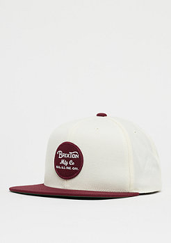 Brixton Wheeler Snap cream/burgundy
