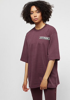 IVY PARK Badge Logo Oversized purple