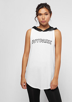 IVY PARK Collegiate Logo Hooded Tank white
