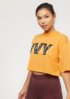 IVY PARK Layer Crop Logo SS Tee golden orange