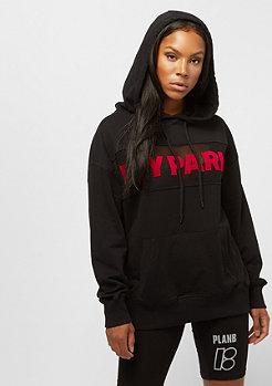 IVY PARK Sheer Flocked Logo Hoodie black