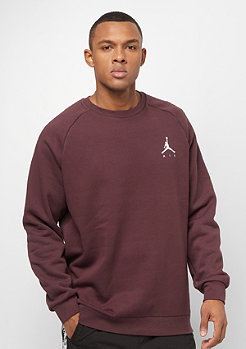 Jordan Jumpman Fleece Crew burgundy crush white