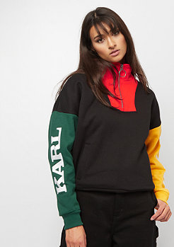 Karl Kani Block Halfzip Crewneck black red green yellow