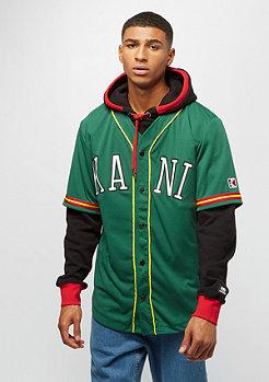 Karl Kani College Baseball Shirt green orange white
