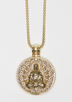 King Ice Kette Buddhist Medallion gold