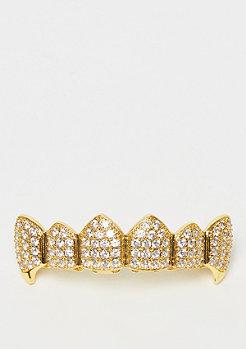 King Ice CZ Dracula Teeth Grillz Gold Überzug