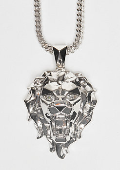 King Ice Kette Fox Empire CZ Faceted Lion silver