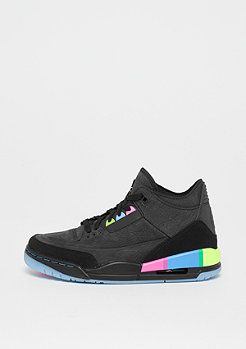 JORDAN Air Jordan 3 Retro (GS) black/black-electric green-infrared