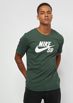 NIKE SB Logo midnight green/white