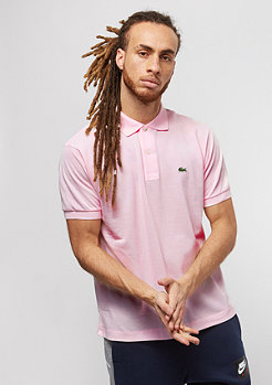 Lacoste Short Sleeved Ribbed Collar Shirt flamingo