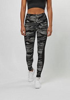 Urban Classics Camo Stripe Leggings dark camo/black