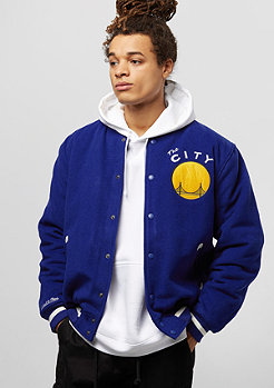 Mitchell & Ness Golden State Warriors Collegejacke royal