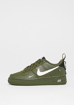 NIKE Air Force 1LV8 Utility (GS) olive canvas/white/tour yellow