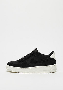 NIKE Air Force 1 Suede (GS) black/black-sail
