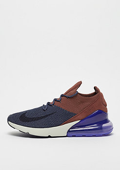 NIKE Air Max 270 Flyknit thunder blue/gridiron/red sepia