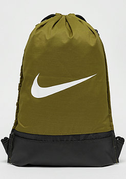 NIKE Brasilia Gym Bag olive flak/black/white