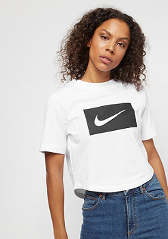 NIKE Crop Swoosh white/black