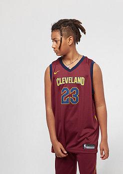 NIKE Kids Cleveland Cavaliers LeBron James Trikot burgundy