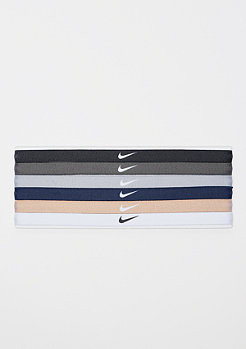 NIKE Printed Headbands Assorted 6 Pack black/dark grey/wolf grey
