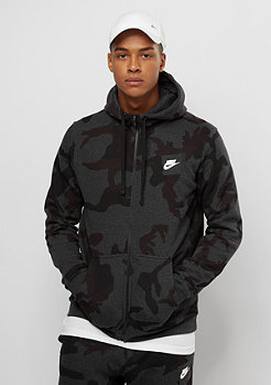 NIKE FZ AOP FLC Club black heather
