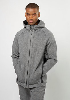 Hooded-Zipper Tech Fleece FZ carbon heather/black/black