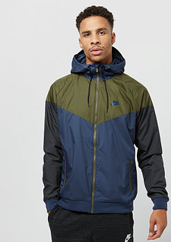 NIKE Windrunner midnight navy/olive canvas/midnight navy