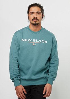 New Black Sweatshirt Sport Crew aqua
