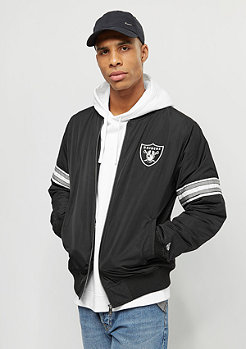 New Era Team Apparel Bomber Oakland Raiders black
