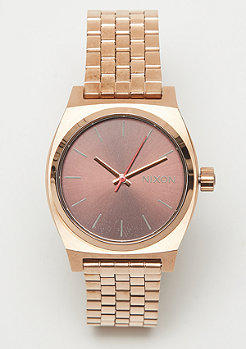 Nixon Medium Time Teller all rose gold/brown