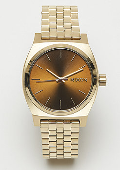 Nixon Medium Time Teller light gold/manuka