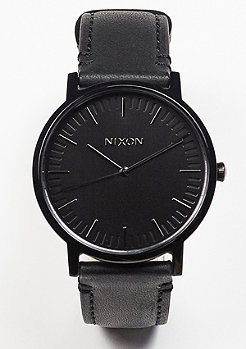 Nixon Uhr Porter Leather all black