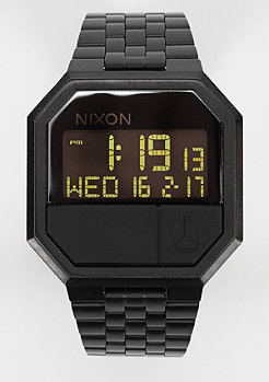 Nixon Uhr Re-Run all black