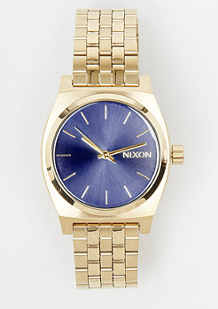 Nixon Medium Time Teller all light gold/cobalt