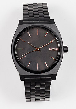 Nixon Uhr Time Teller all black/rose gold