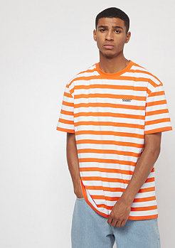 SNIPES Stripe Tee orange/white