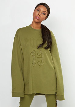 Fenty by Rihanna Long Sleeve Graphic Crew Neck olive branch
