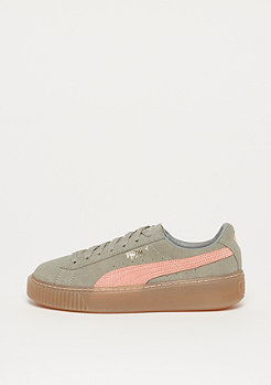 Puma Suede Platform SD rock ridge-peach beige-gold-gum8