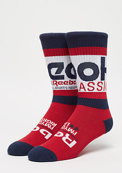 Reebok CL Graphic Crew Sock white
