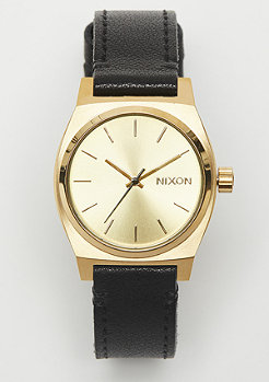 Nixon Medium Time Teller Leather gold/black