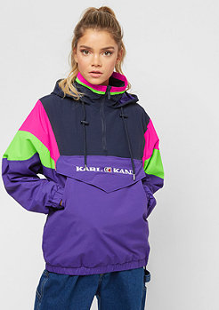 Karl Kani Retro  Block Windbreaker purple/pink/green
