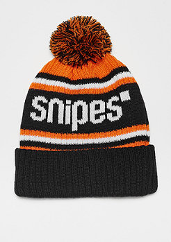 SNIPES Bobble Beanie orange/black