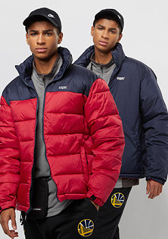 SNIPES Reversible Puffer navy/red