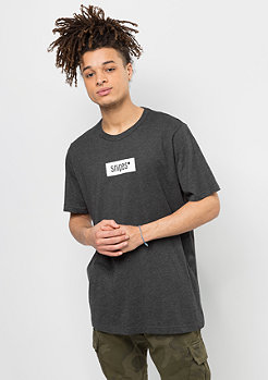 SNIPES T-Shirt Small Box Logo charcoal/white