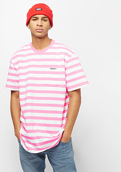 SNIPES Stripe Tee pink/white