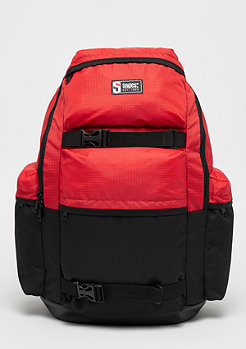 SNIPES Color Block Outdoor Backpack black/red