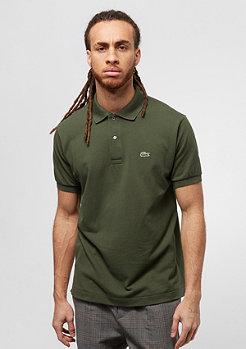 Lacoste Short Sleeved Ribbed Collar Shirt boscage