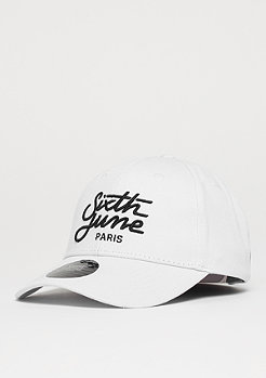 Sixth June Curved Cap Embroidery white
