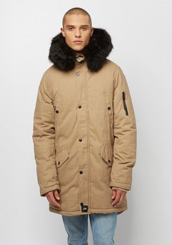 Sixth June Parka With Fur sand black