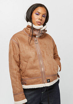 Sixth June Shearling Aviator Jacket brown